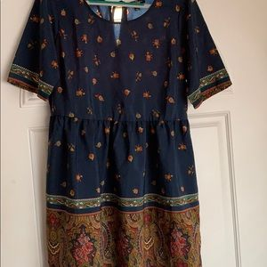 Blue Fall dress size Medium BeBop